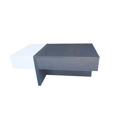 Maeda Lift Top Coffee Table Color: Ash/White