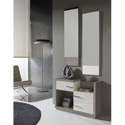 Mestas 3 Drawer Dresser with Mirror Color: Eco/White