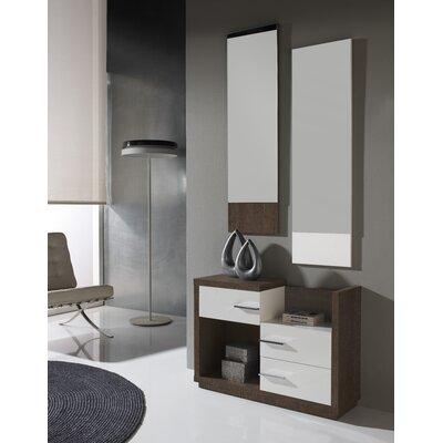 Mestas 3 Drawer Dresser with Mirror Color: Natur/Blanco