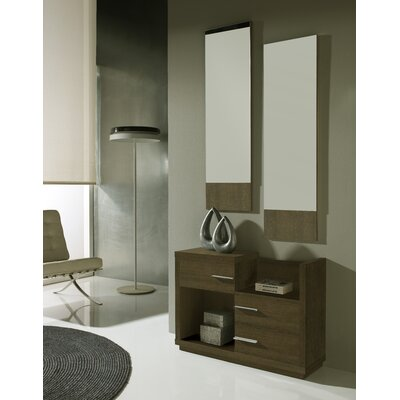 Mestas 3 Drawer Dresser with Mirror Color: Natur