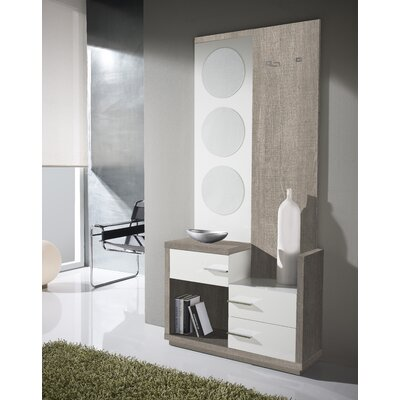 Morphis 3 Drawer Dresser with Mirror Color: Eco/White