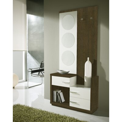 Morphis 3 Drawer Dresser with Mirror Color: Natur/Blanco