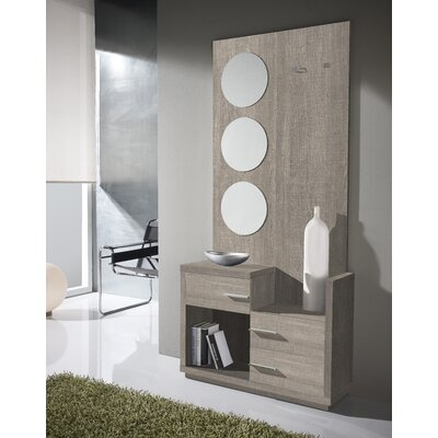Morphis 3 Drawer Dresser with Mirror Color: Eco