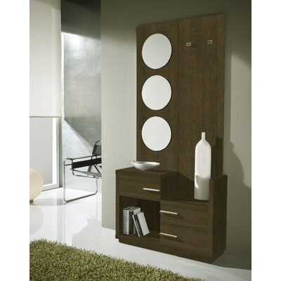 Morphis 3 Drawer Dresser with Mirror Color: Natur