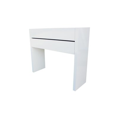 Oden Console Table and Mirror Set Finish: White