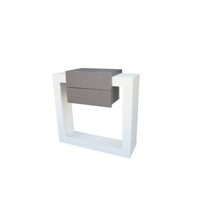 Quirion Console Table and Mirror Set Finish: White/Ash