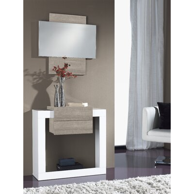 Quirion Console Table and Mirror Set Finish: White/Eco