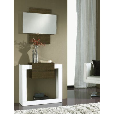 Quirion Console Table and Mirror Set Finish: White/Natur