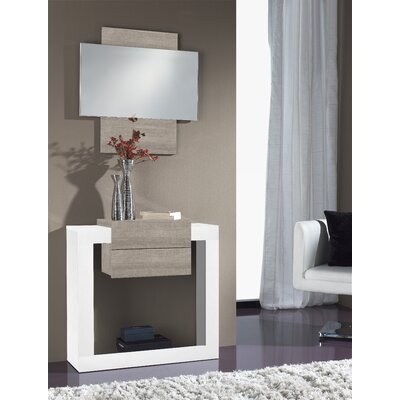 Quirion Console Table and Mirror Set Finish: Polar/Eco