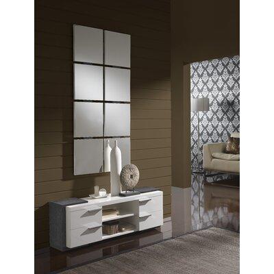 Dekalb 4 Drawer Dresser with Mirror Color: Grey/White