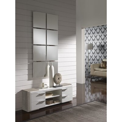 Dekalb 4 Drawer Dresser with Mirror Color: Eco/White