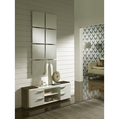Dekalb 4 Drawer Dresser with Mirror Color: Ash/White