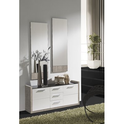 Zylstra 4 Drawer Combo Dresser with Mirror Color: Eco/White