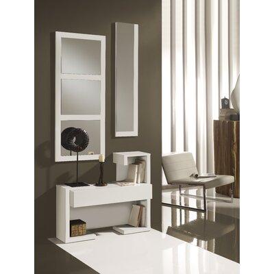 Delancey 1 Drawer Dresser with Mirror Color: White