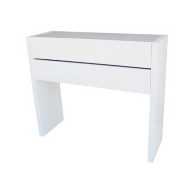Nicodemus Console Table and Mirror Set Finish: White/Eco
