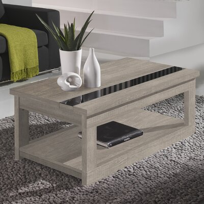 Tibbits Coffee Table with Lift Top Color: Eco