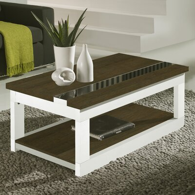 Tibbits Coffee Table with Lift Top Color: Natur/Polar