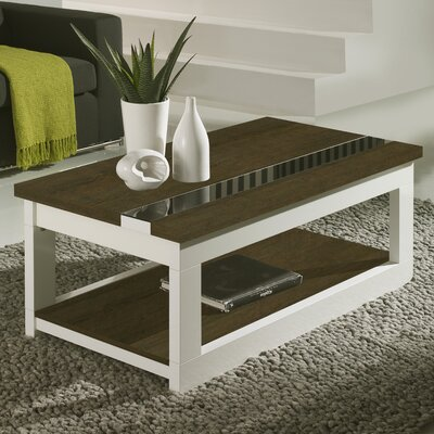 Tibbits Coffee Table with Lift Top Finish: Natur/White