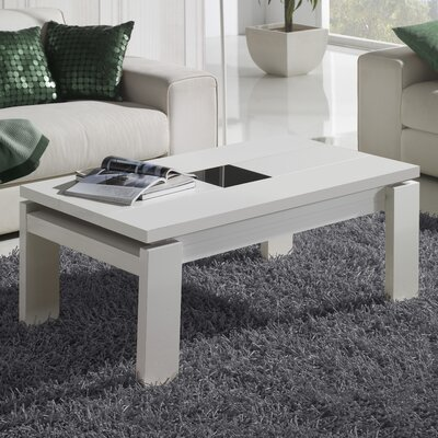 Tiedeman Coffee Table with Lift Top Color: White