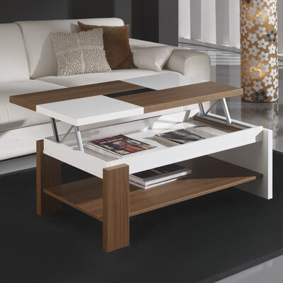 Tieman Coffee Table with Lift Top Color: Walnut/Ash