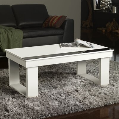 Danae Coffee Table with Lift Top Color: White