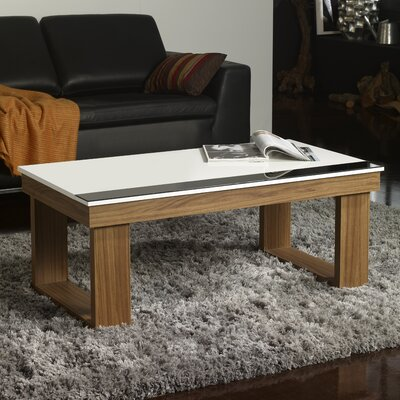 Danae Coffee Table with Lift Top Finish: White/Ash