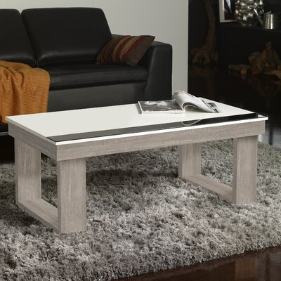 Danae Coffee Table with Lift Top Color: Ash/White