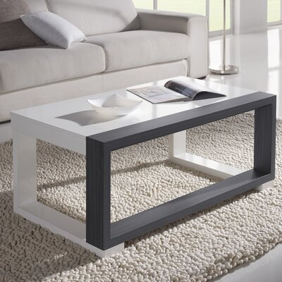 Juneau Coffee Table with Lift Top Color: White/Ash