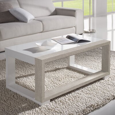 Juneau Coffee Table with Lift Top Color: White/Eco