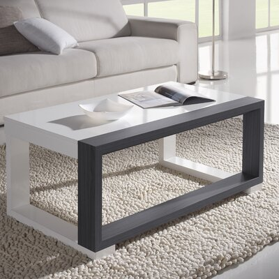 Lemos Coffee Table with Lift Top Color: White/Ash