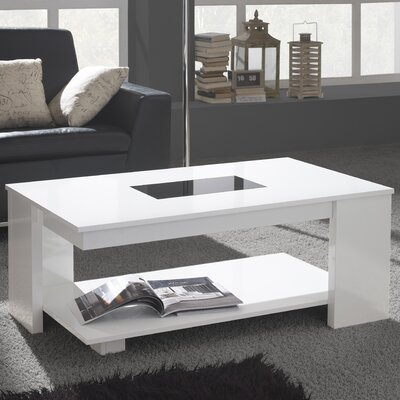 Dandridge Coffee Table with Lift Top Finish: White