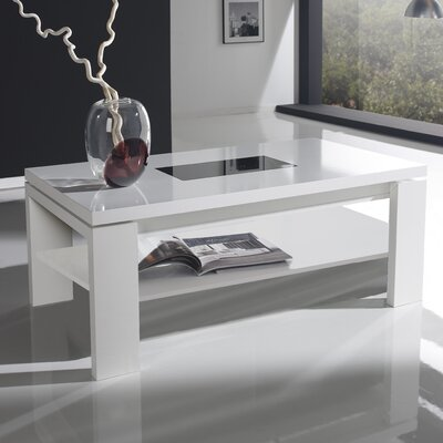 Daniels Lift Top Coffee Table Color: White