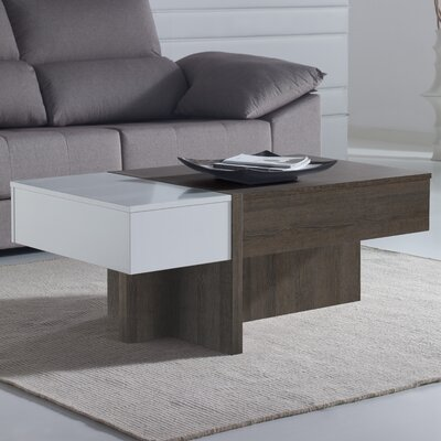 Maeda Lift Top Coffee Table Color: Natur/White