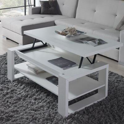 Davian Coffee Table with Lift Top Finish: Polar