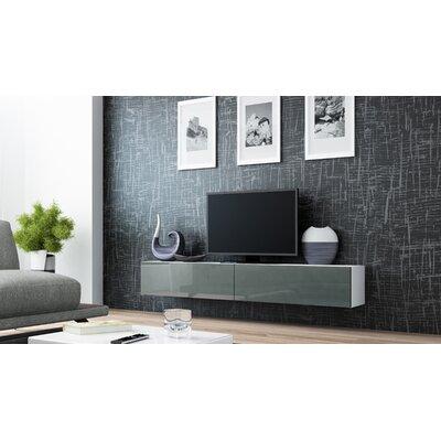 Birte 70.9 TV Stand Color: White/Gray