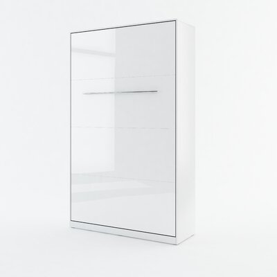 Calvin Wall Bed Color: White Gloss, Size: 85.4 H x 52.3 W x 93.3 D