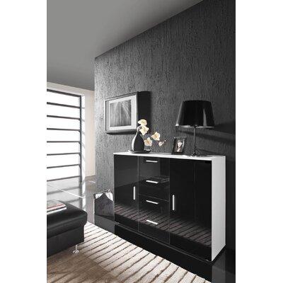 Beno Sideboard Color: White/Black