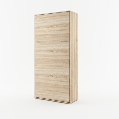 Calvin Wall Bed Color: Sonoma Oak, Size: 85.4 H x 40.9 W x 93.3 D
