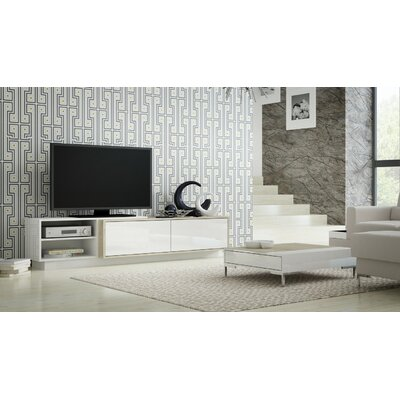Tysen High Gloss 70.9 TV Stand Color: Sonoma Oak