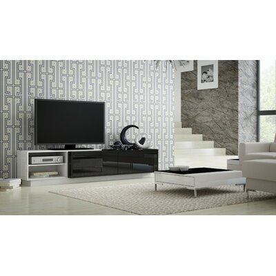 Tysen High Gloss 70.9 TV Stand Color: White