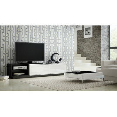 Tysen High Gloss 70.9 TV Stand Color: Black
