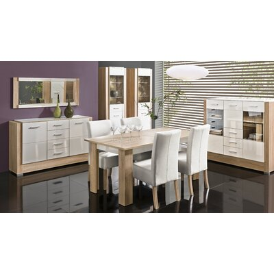 Drews Sideboard Color: White Gloss&Sonoma OAK