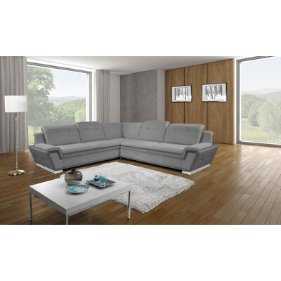 Donecia� Upholstery Sleeper Sectional Orientation: Right Hand Facing