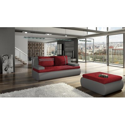 Sartor Reclining Sofa Bed Upholstery: Red