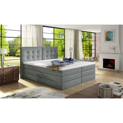 Brayden Studio Upholstered Storage Panel Bed Mattress