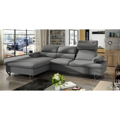 Klar Sleeper Sectional Upholstery: Gray, Orientation: Left Hand Facing