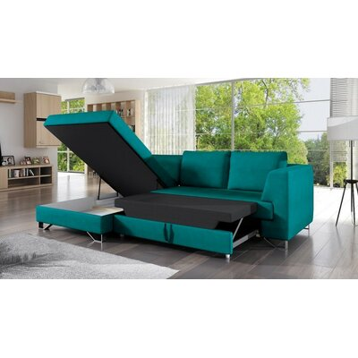 Shoalhaven Sleeper Corner Sectional with Pouf Orientation: Left Hand Facing