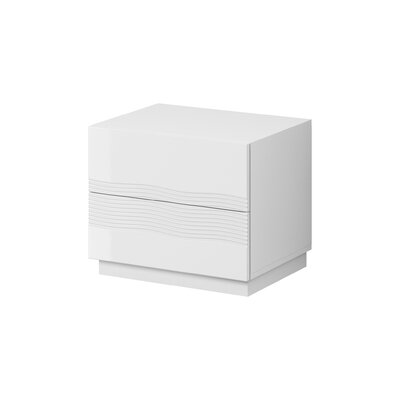 Fideoja 2 Drawer Nightstand