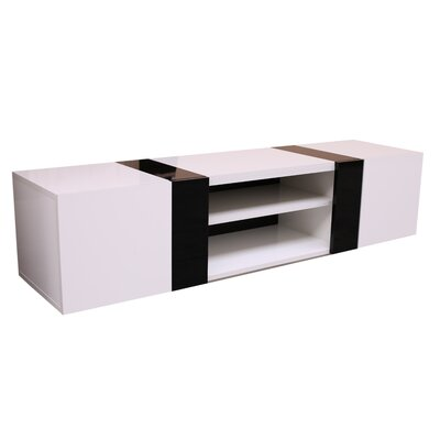 Scorpius 66 TV Stand Color: White