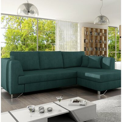 Shoalhaven Sleeper Corner Sectional with Pouf Orientation: Right Hand Facing